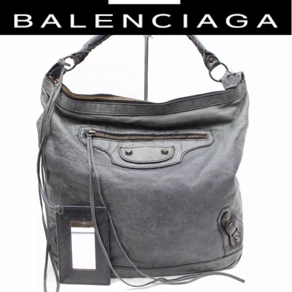 7e358eff216 Balenciaga Bags | Giant 21 Moto Day Bag In Anthracite | Poshmark